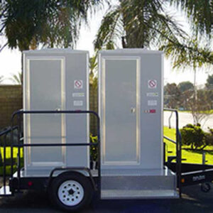 2 Stall VIP Portable Restroom Trailers San Francisco Bay Area | Sacramento Valley