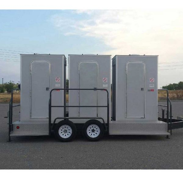 Porta Potty rental near me - 3 Stall VIP restroom trailers rental San Francisco Bay Area | Sacramento Valley
