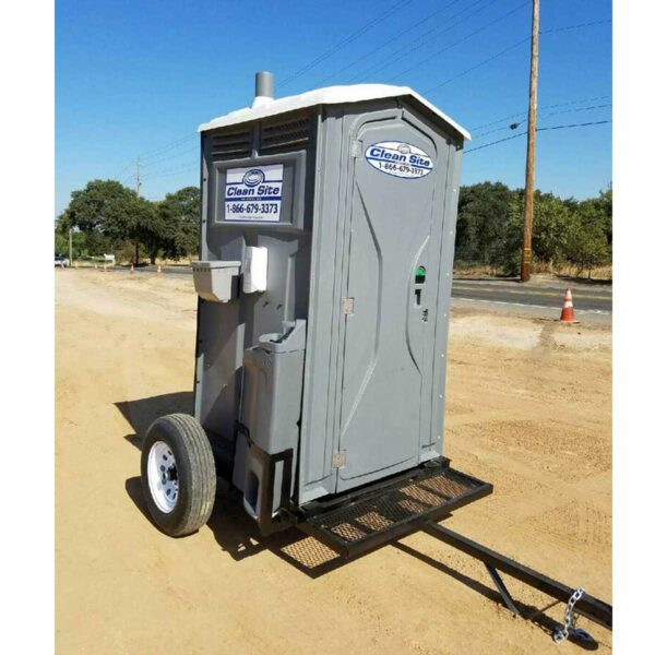 Trailer Mounted Portable Bathroom Rental with hand wash station San Francisco Bay Area | Sacramento Valley